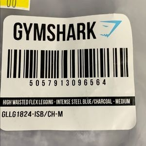 Gymshark high waisted Flex leggings Blue/Char MED